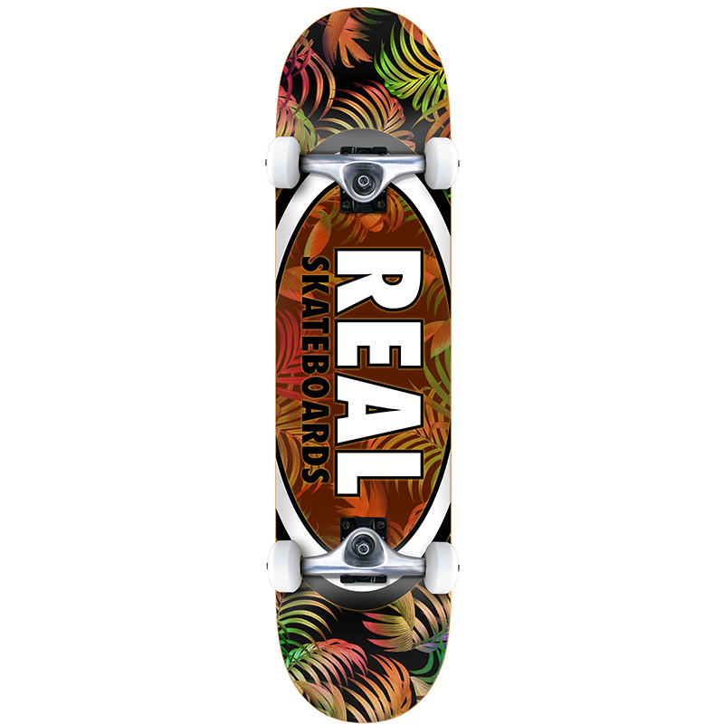 Real Team Tropic Ovals II MD Complete Skateboard 7.75