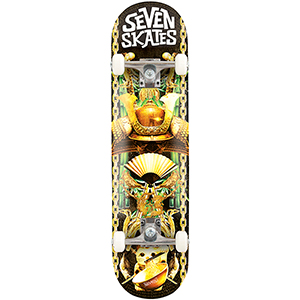 Seven Skates Lucky Cat Complete Skateboard 7.8