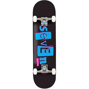 Seven Skates Punk Stencil Complete Skateboard 7.8