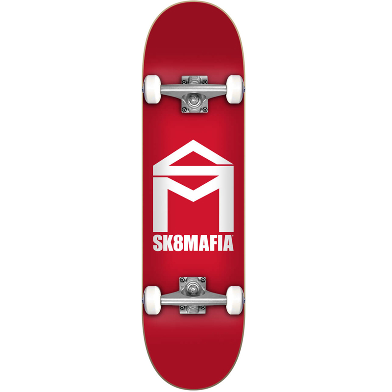 Sk8Mafia House Logo Complete Skateboard Red 7.87