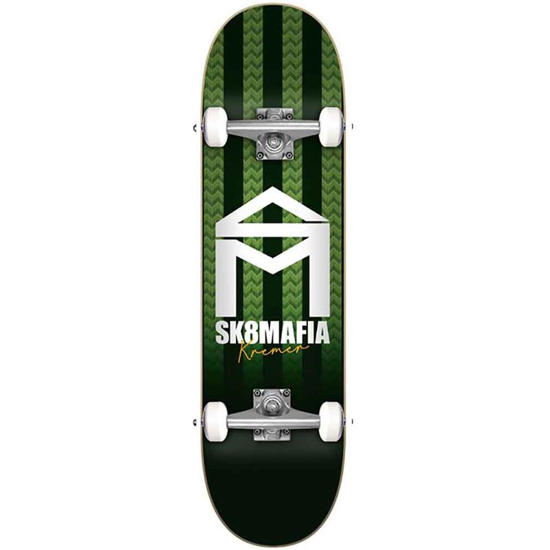 Sk8Mafia Kremer House Logo Stripe Complete Skateboard 8.0