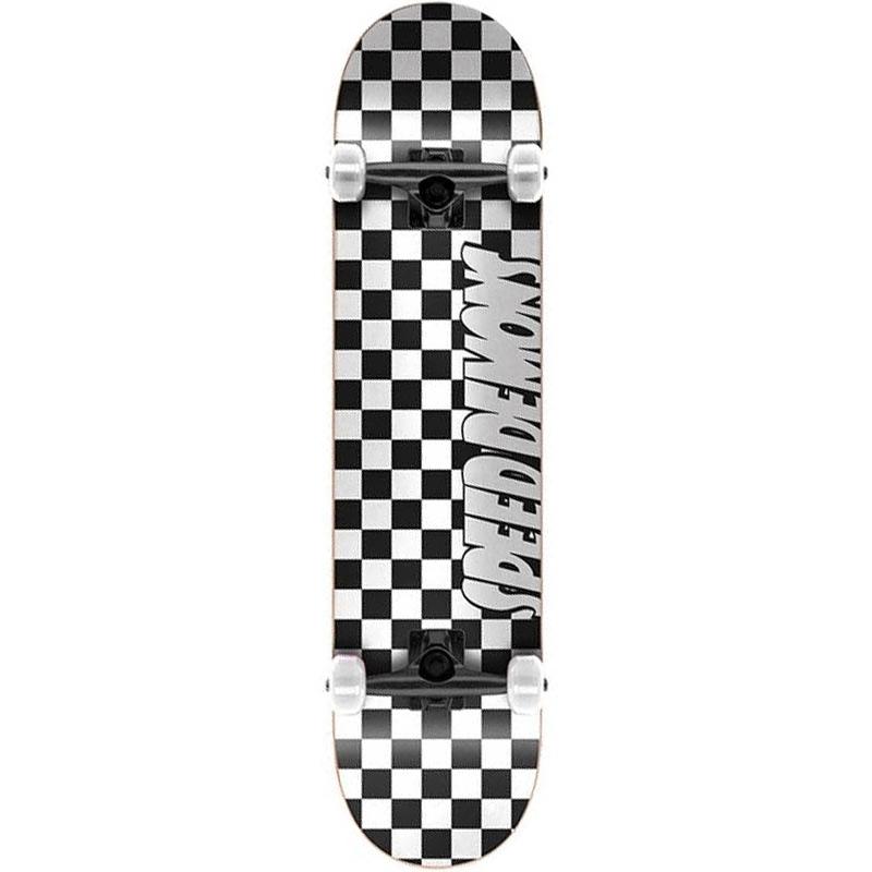 Speed Demons Checkers Complete Skateboard Black/White 8.0