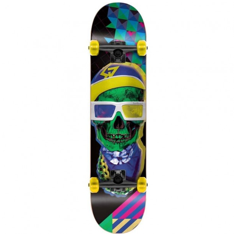 Speed Demons Mix Complete Skateboard Navy/Yellow 7.5