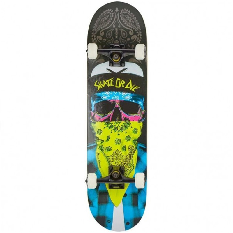 Speed Demons Mob Complete Skateboard Blue/Yellow 8.25