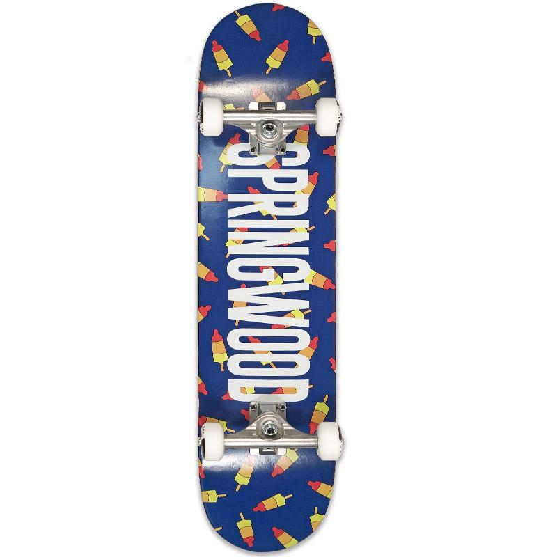 Springwood Rocket Air Complete Skateboard Blue 7.75
