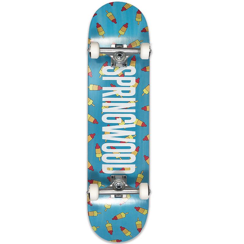Springwood Rocket Air Complete Skateboard Turquoise 8.0