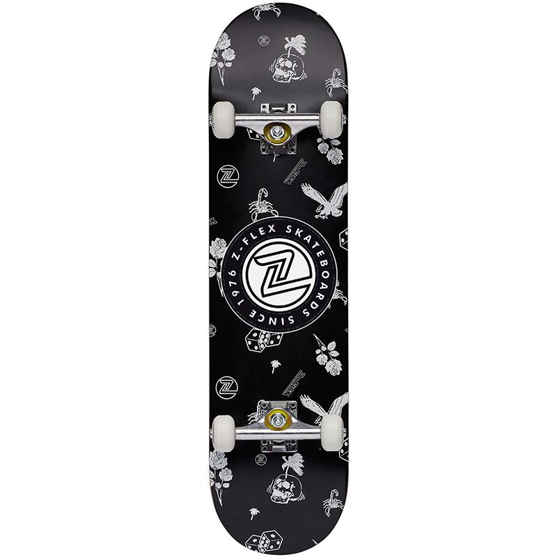 Z-Flex Rolling Bones Complete Skateboard 8.0