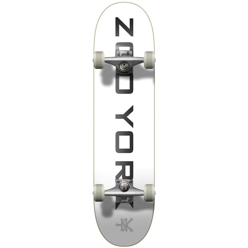 Zoo York OG 95 Logo Block Complete Skateboard White/Black/Grey 7.75