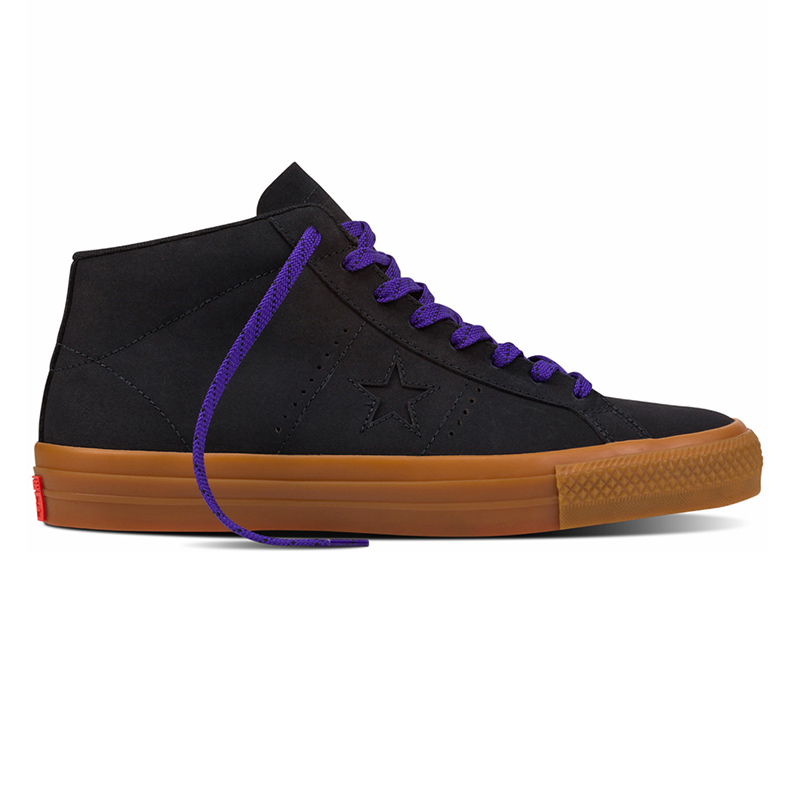 Converse One Star Pro Leather Mid Black/Gum/Grape