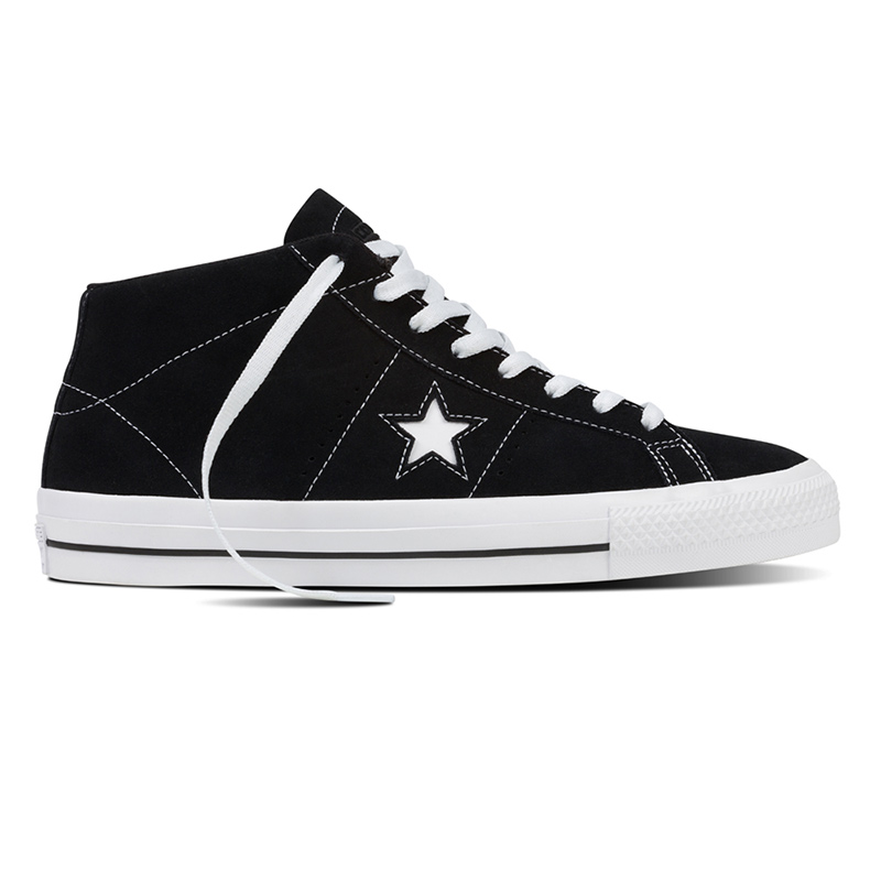 Converse One Star Pro Suede Mid Black/White/Black