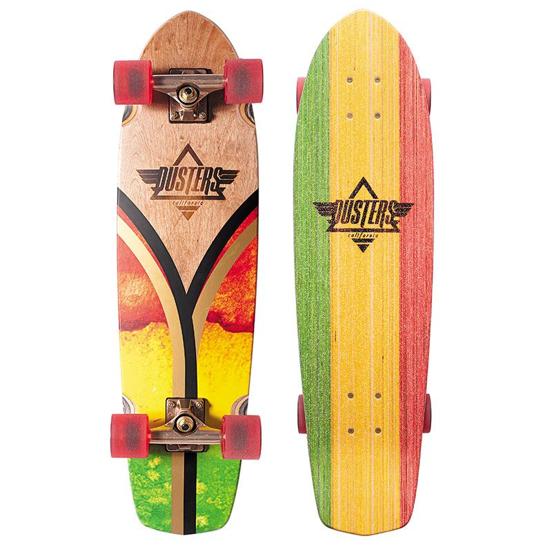 Dusters Flashback Cruiser Skateboard Rasta Flag 31.0