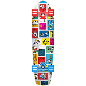 Dusters Girl Flower GN4LW Cruiser Skateboard Blue/Red 31.0