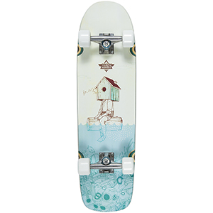 Dusters Grind Perch Complete Cruiser Teal/Off White 30.0