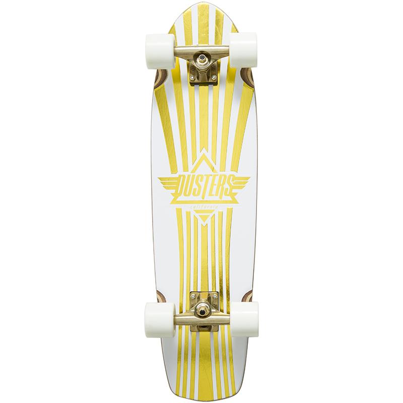 Dusters Keen Prism Cruiser Skateboard White/Gold 31.0