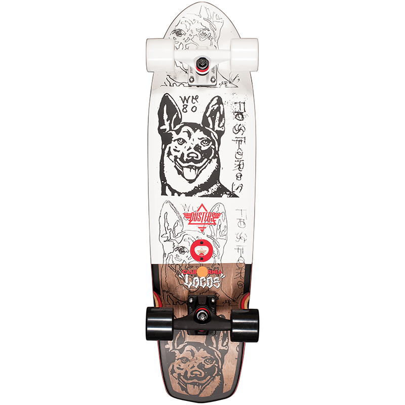 Dusters Locos Wong Cruiser Skateboard White 31.0