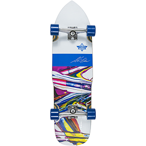 Dusters Olson Cruiser Skateboard (with Kryptonic Blue wheels) 32.0
