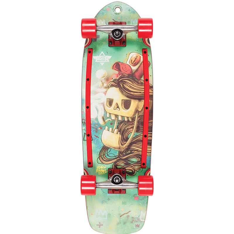 Dusters Rebel Cruiser Skateboard Kryptonic Red 29.0