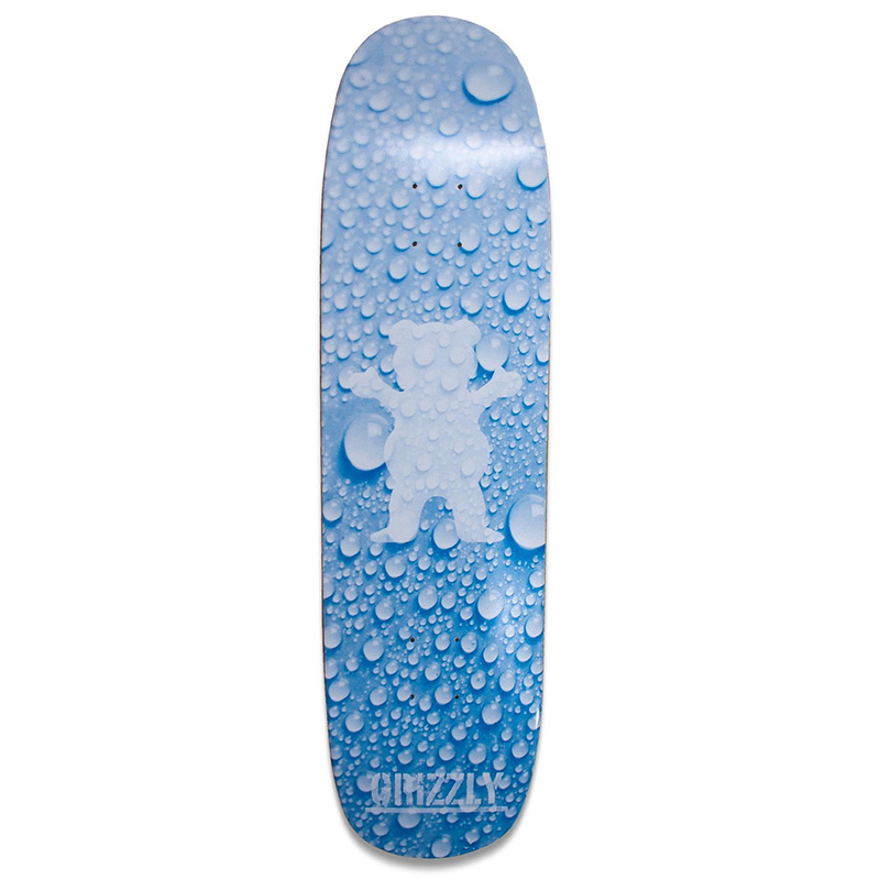 Grizzly Splash Cruiser Skateboard Deck Blue