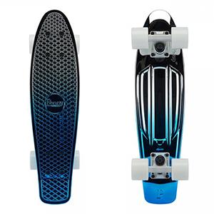 Penny Blue Silver Metallic Fade Cruiser Skateboard 22.0
