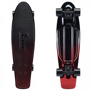 Penny Gunmetal Red Metallic Fade Cruiser Skateboard 27.0
