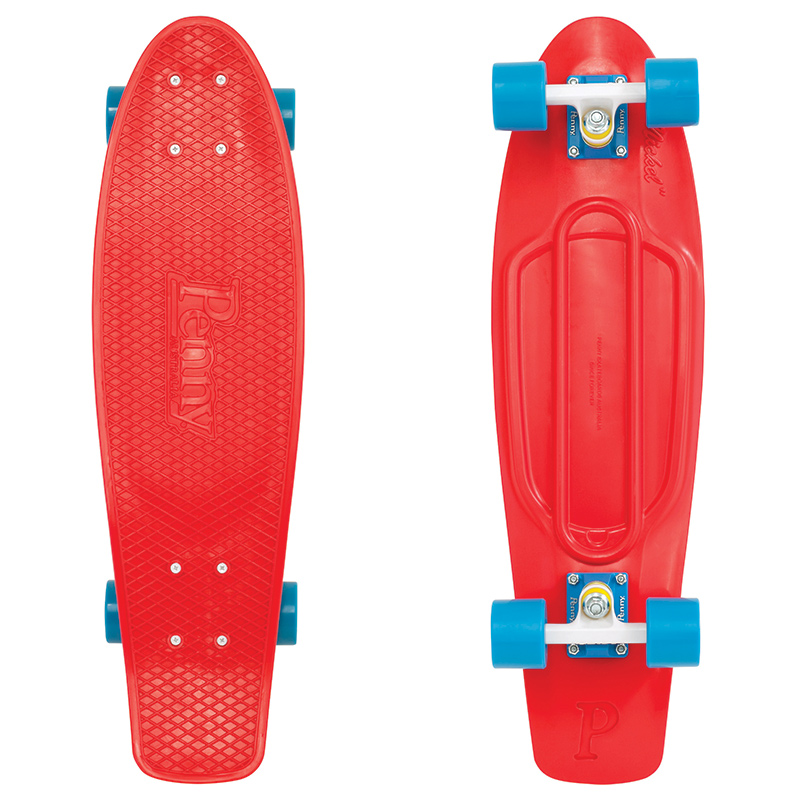 Penny Nickel Red Cruiser Skateboard 27.0