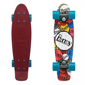 Penny Sticker Slap Cruiser Skateboard 22.0