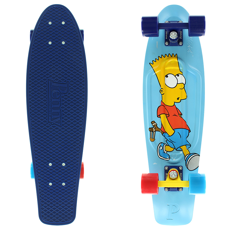 Penny x The Simpsons Bart Nickel Cruiser Skateboard 27.0
