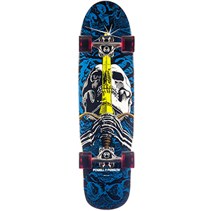 Powell Peralta Skull & Sword Mini Cruiser Skateboard 8.0