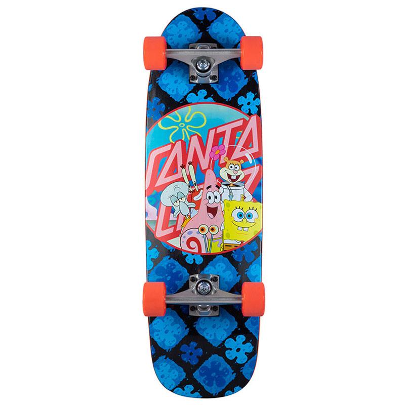 Santa Cruz x SpongeBob Spongegroup Complete Cruiser Blue/Pink 8.97