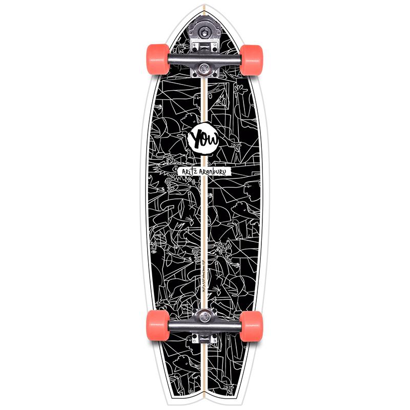 Yow Aritz Aranburu Surfskate V3 Cruiser Skateboard 30.5