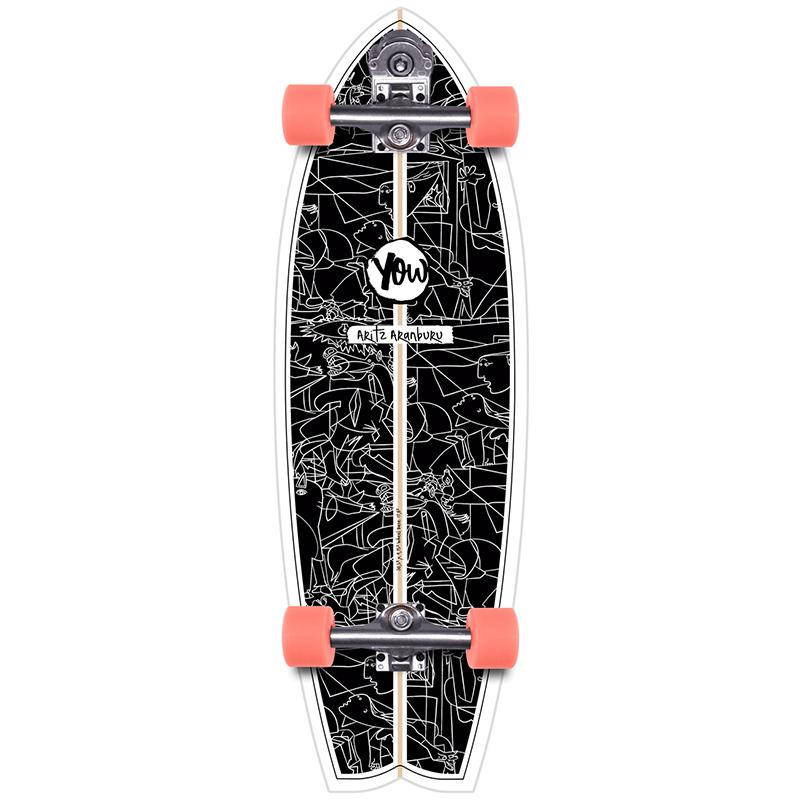 Yow Aritz Aranburu Surfskate V3 Cruiser Skateboard 32.5
