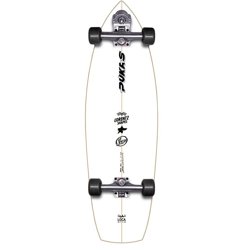 Yow La Loca Pukas x Yow Surfskate V3 Cruiser Skateboard 33.5