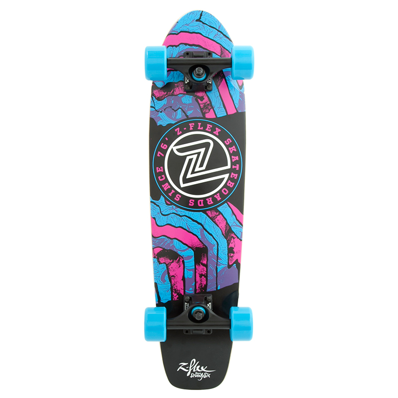 Z-Flex Delirium Blue Cruiser Skateboard 29.0