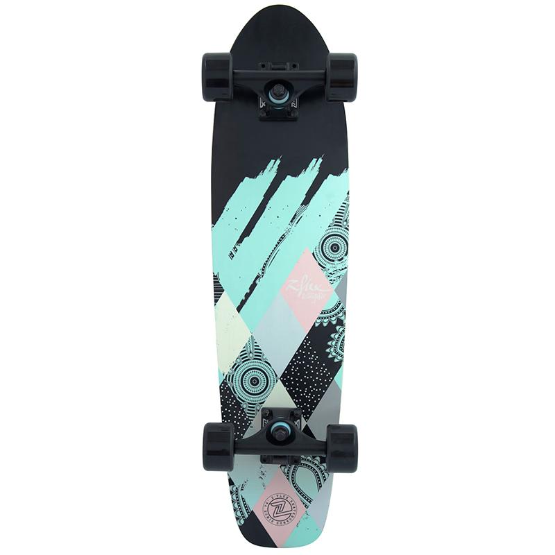 Z-Flex Patchwork Cruiser Skateboard 29.0
