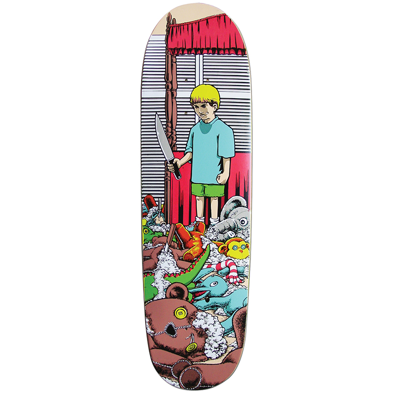 101 Adam Mcnatt Stuffed Animals Screenprinted Skateboard Deck 8.5