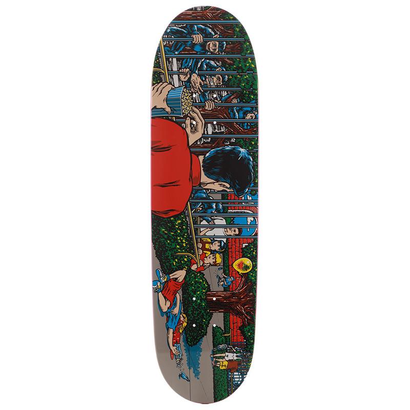 101 Eric Koston Day at the Zoo Screen Printed Skateboard Deck 8.75