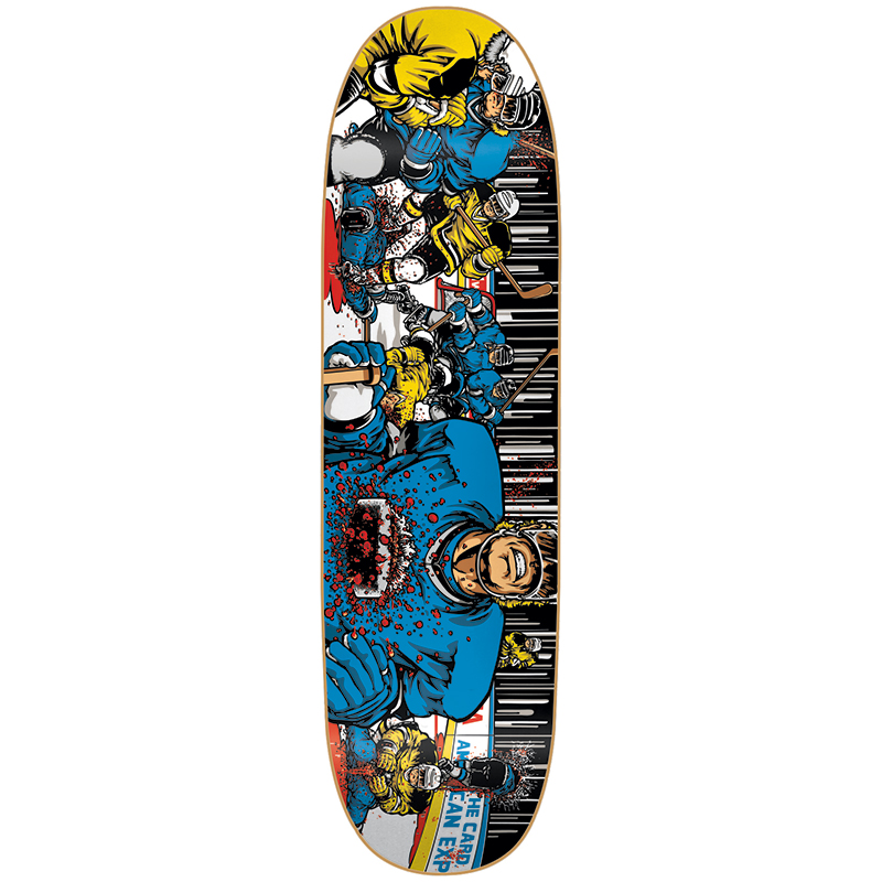 101 Eric Koston Hockey Screenprinted Skateboard Deck 8.25