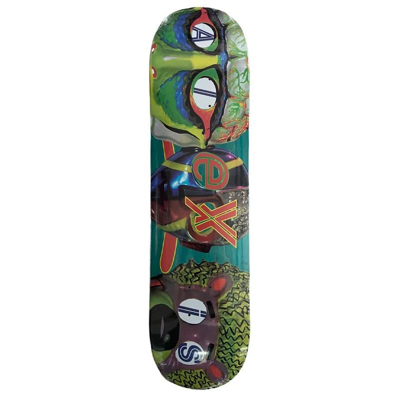Alltimers Alexis Mask Skateboard Deck Multi 8.0
