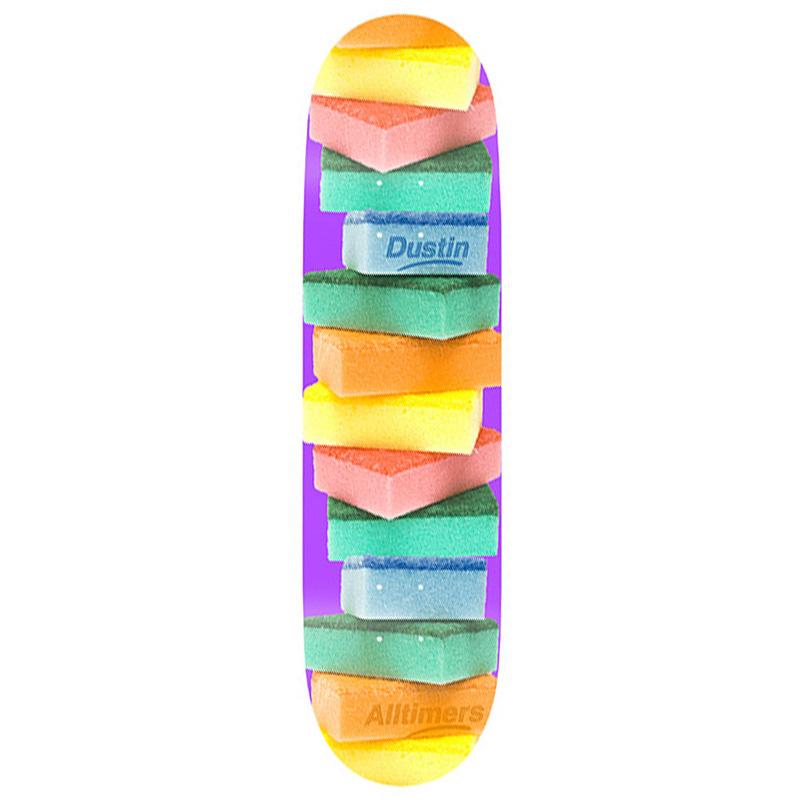 Alltimers Clean Up Dustin Skateboard Deck Sponges 8.5