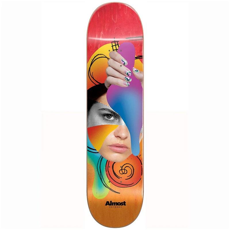 Almost Face Collage R7 Skateboard Deck Red/Orange 8.5