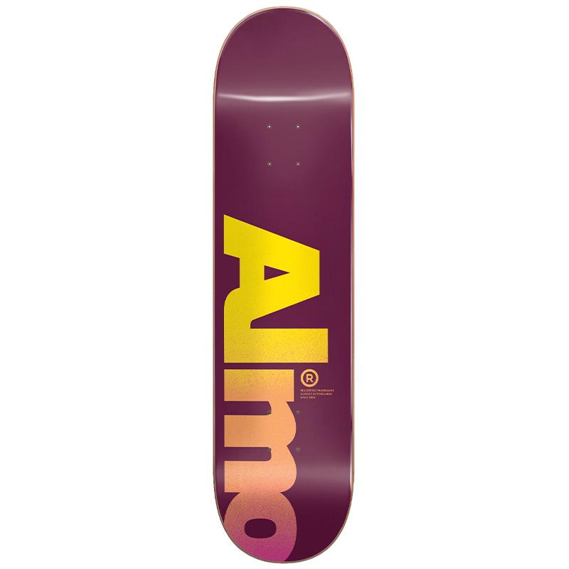 Almost Fall Off Logo HYB Skateboard Deck Magenta 8.0