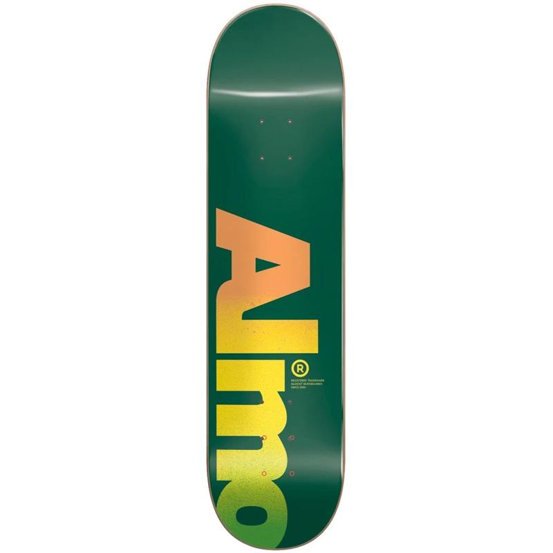 Almost Fall Off Logo Skateboard Deck Green 8.25