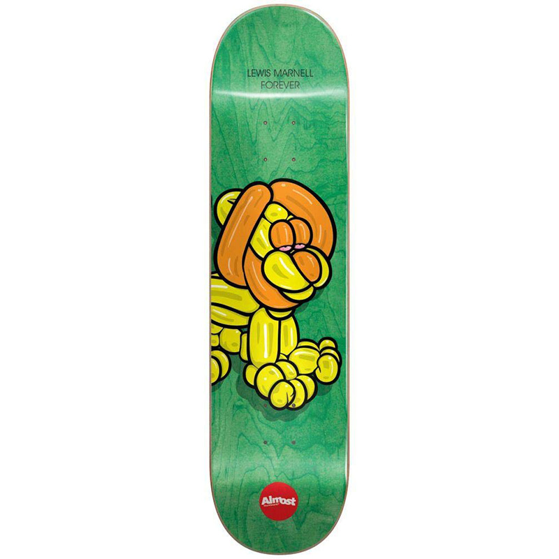 Almost Marnell Balloon Animals R7 Skateboard Deck Green 8.0