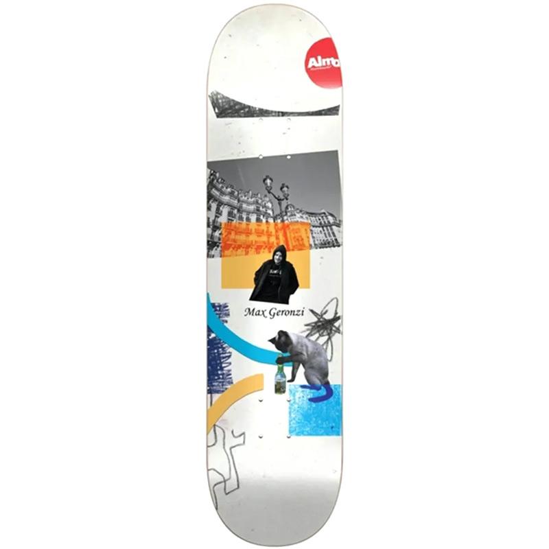 Almost Max Geronzi Scraps R7 Skateboard Deck 8.375