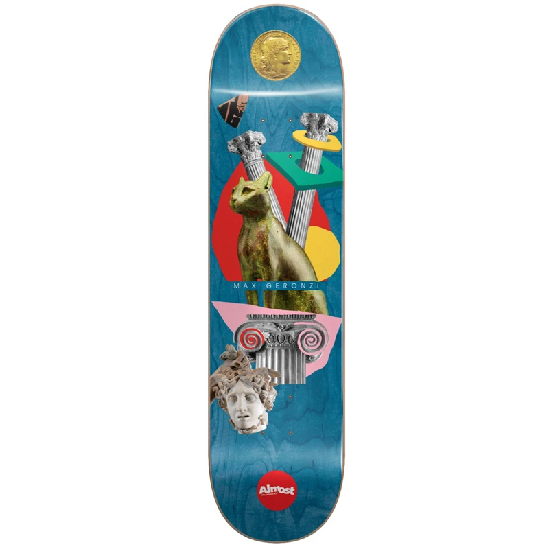 Almost Max Relics R7 Skateboard Deck Blue 8.125