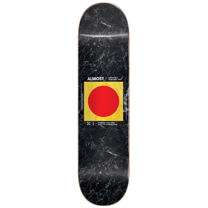 Almost Minimalist R7 Skateboard Deck 8.25