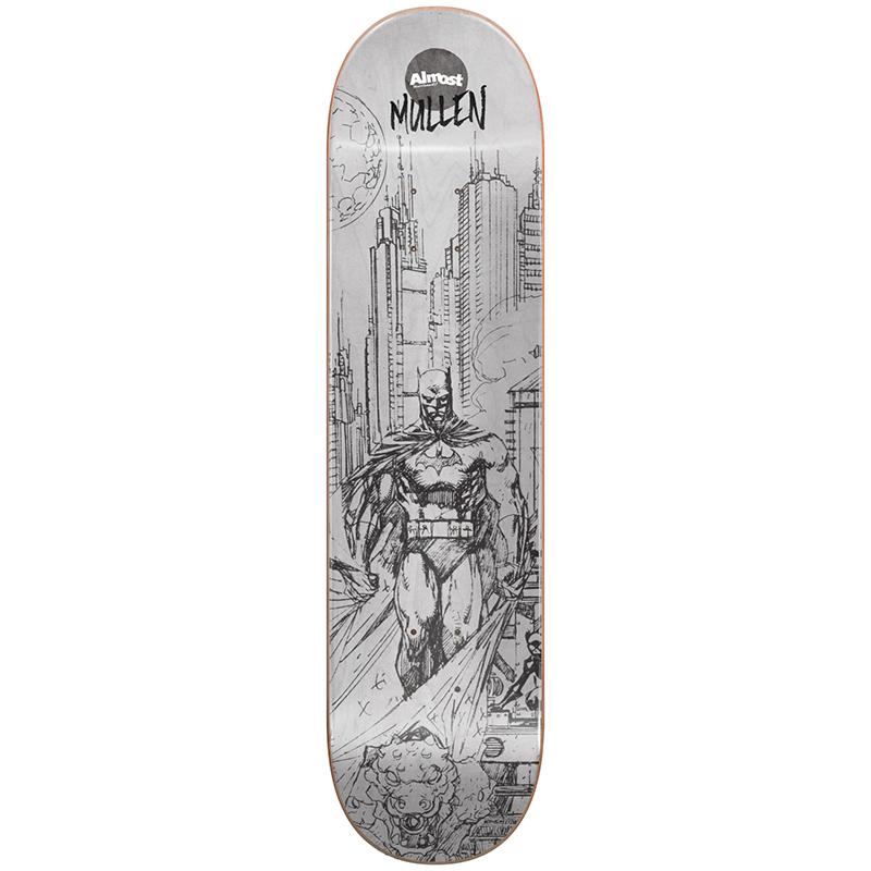 Almost Mullen Batman Pencil Sketch R7 Mullen Skateboard Deck 8.0