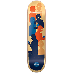 Almost Mullen Group Tekst Impact Light Skateboard Deck 8.25