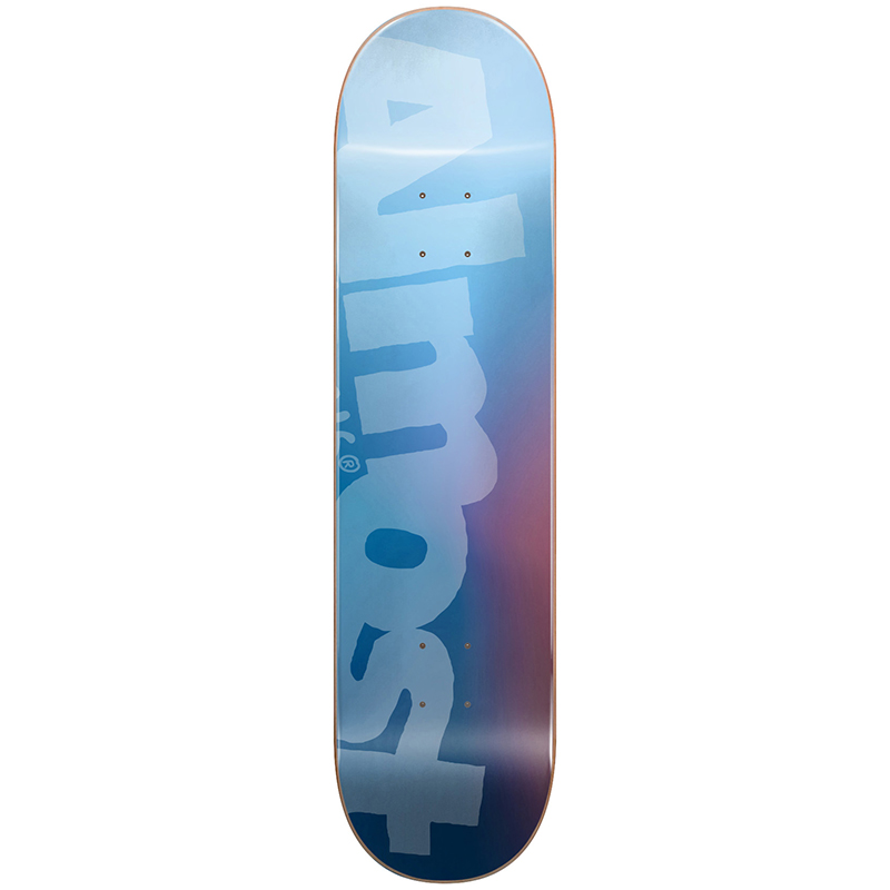 Almost Side Pipe Blurry HYB Skateboard Deck Blue 8.5