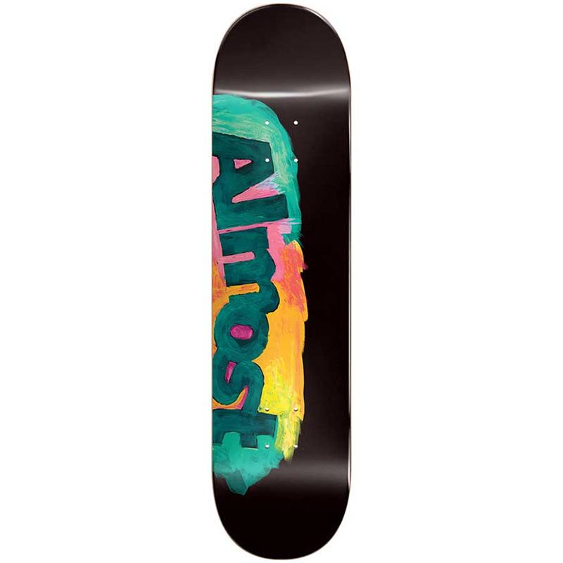 Almost Side Smudge HYB Skateboard Deck Black 8.5